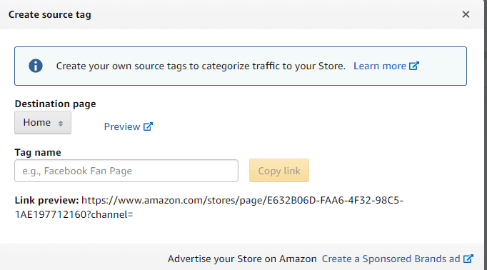 How to Track Amazon Sales from External Traffic Using Stores and Tracking Codes 4