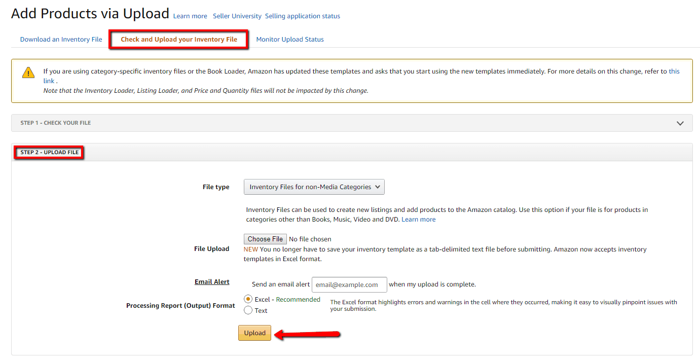 How to add products into an existing parentage via template on Amazon Seller Central 11