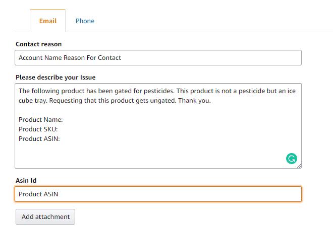 describe issue contact reason amazon seller support vendor