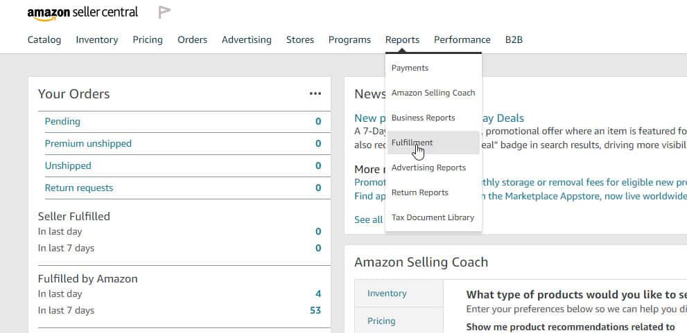 How to Download an Amazon FBA Report on Seller Central 1