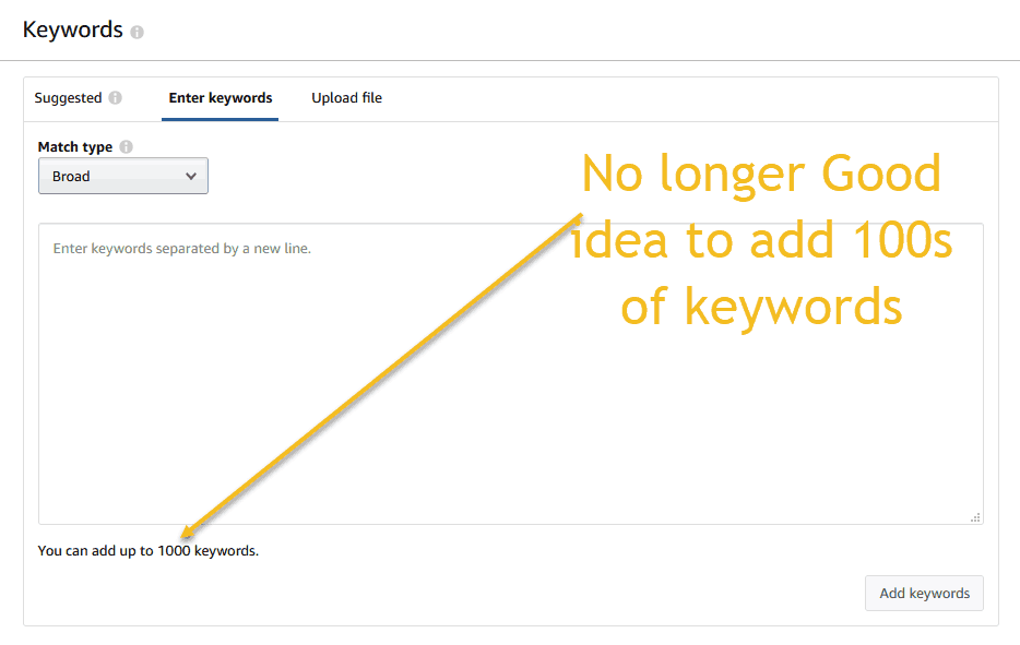 Amazon Keyword Optimization - Fewer Search Terms are Now Better than More 1