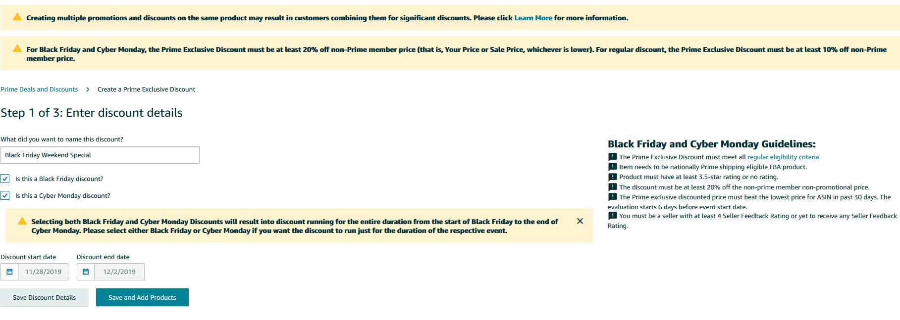 amazon prime exclusive discounts