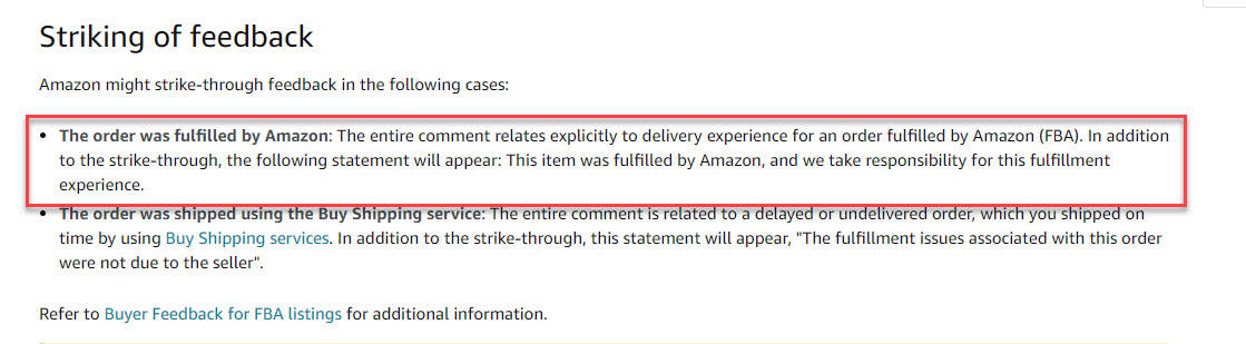 amazon FBA Feedback Removal