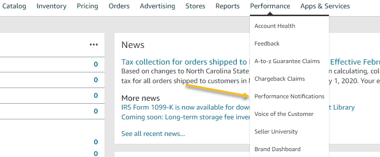 How To Locate Seller Notifications In Seller Central On Amazon 1