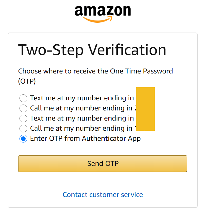 How to Setup Mobile Authenticator OTP One Time Password for Amazon 6